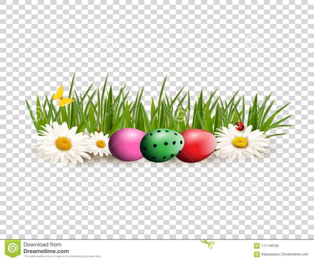medium resolution of easter clip art for greeting card with dyed eggs lying on gras