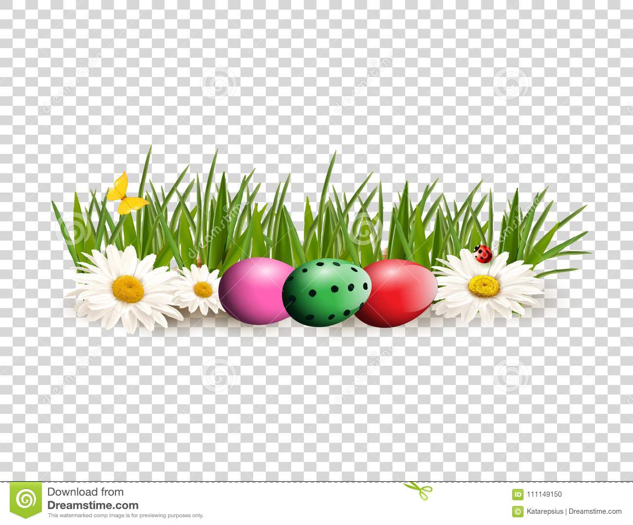 hight resolution of easter clip art for greeting card with dyed eggs lying on gras