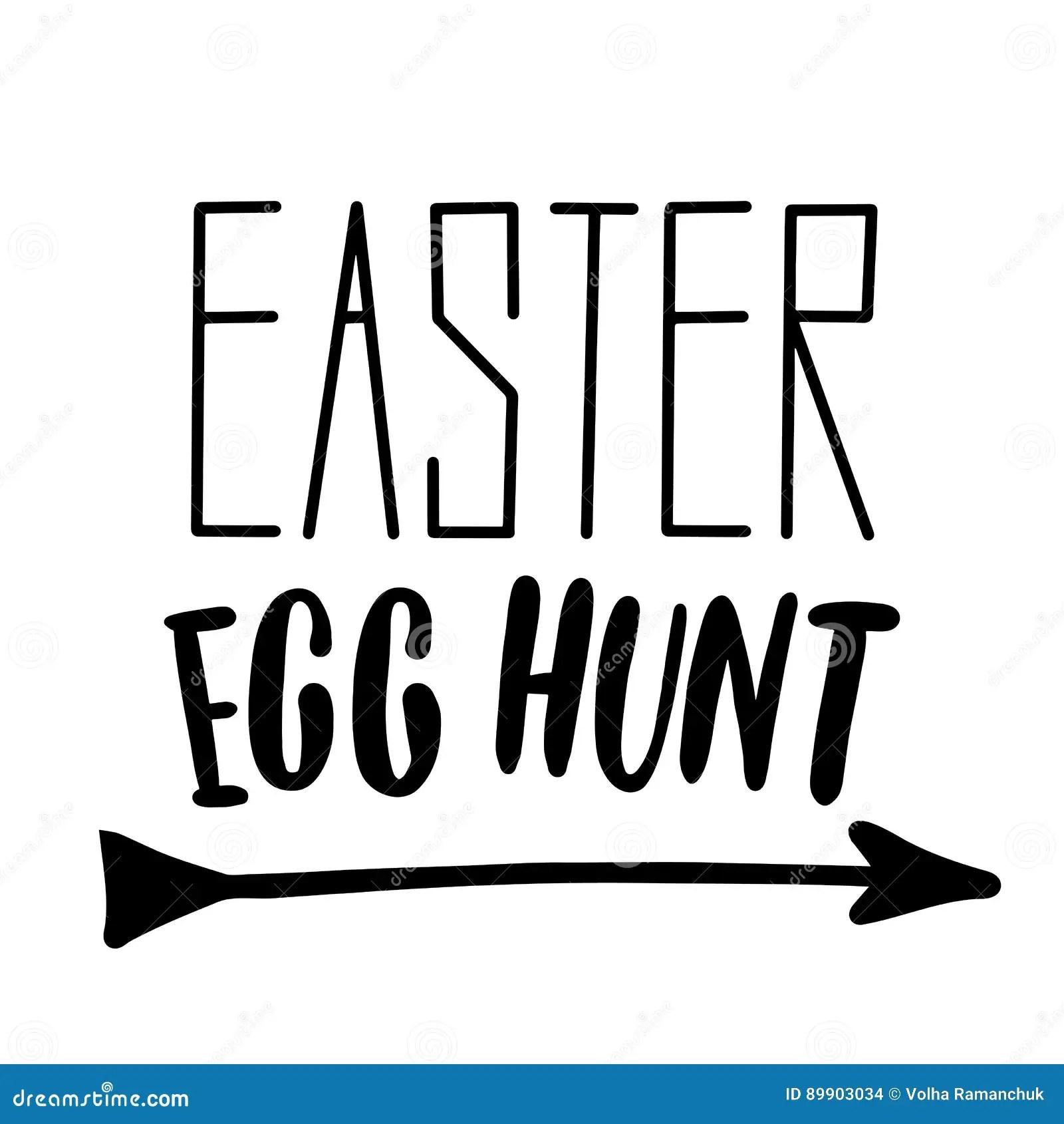 Easter Holiday Celebration Easter Egg Hunt Handwriting