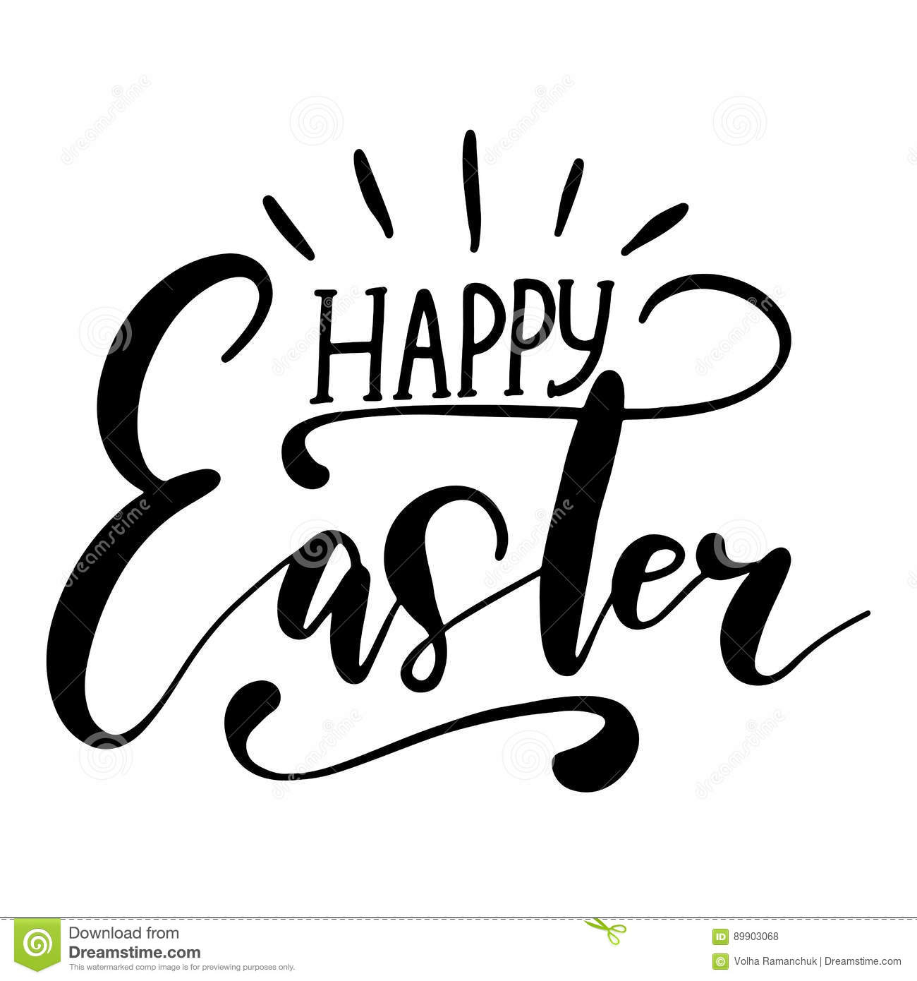 Easter Holiday Celebration Happy Easter Handwriting