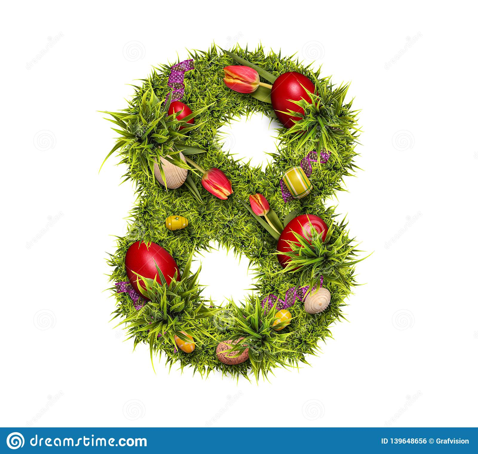 Easter Holiday Number 8 Stock Photo Image Of Isolated