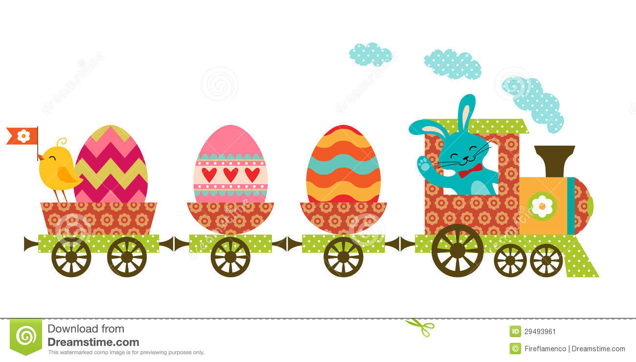 Easter Train Stock Vector Illustration Of Patchwork