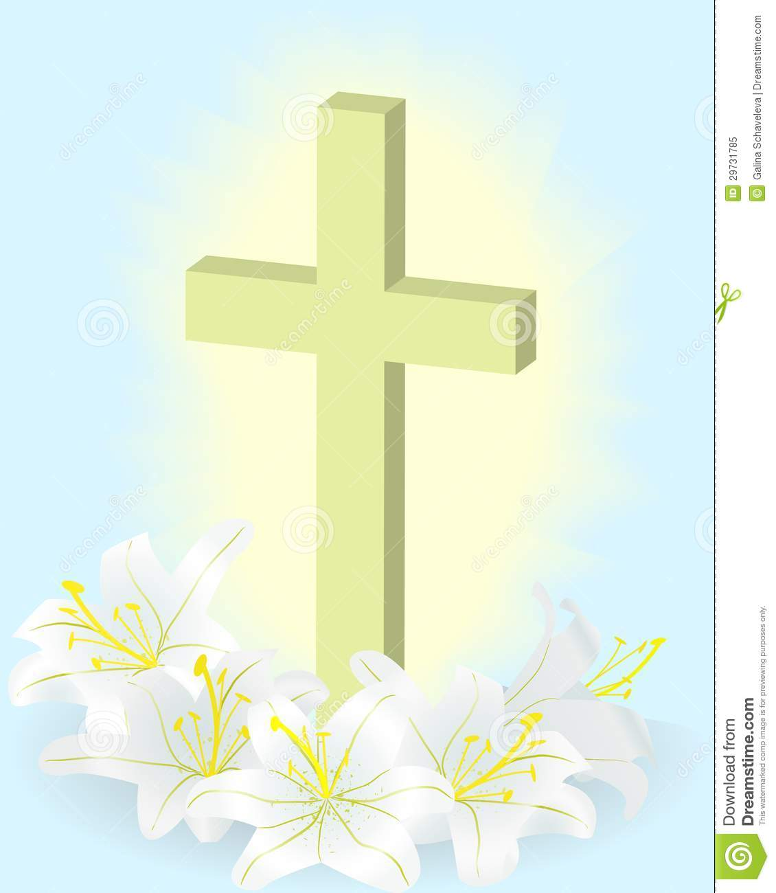 Lily And Cross Royalty Free Stock Photo Image 29731785