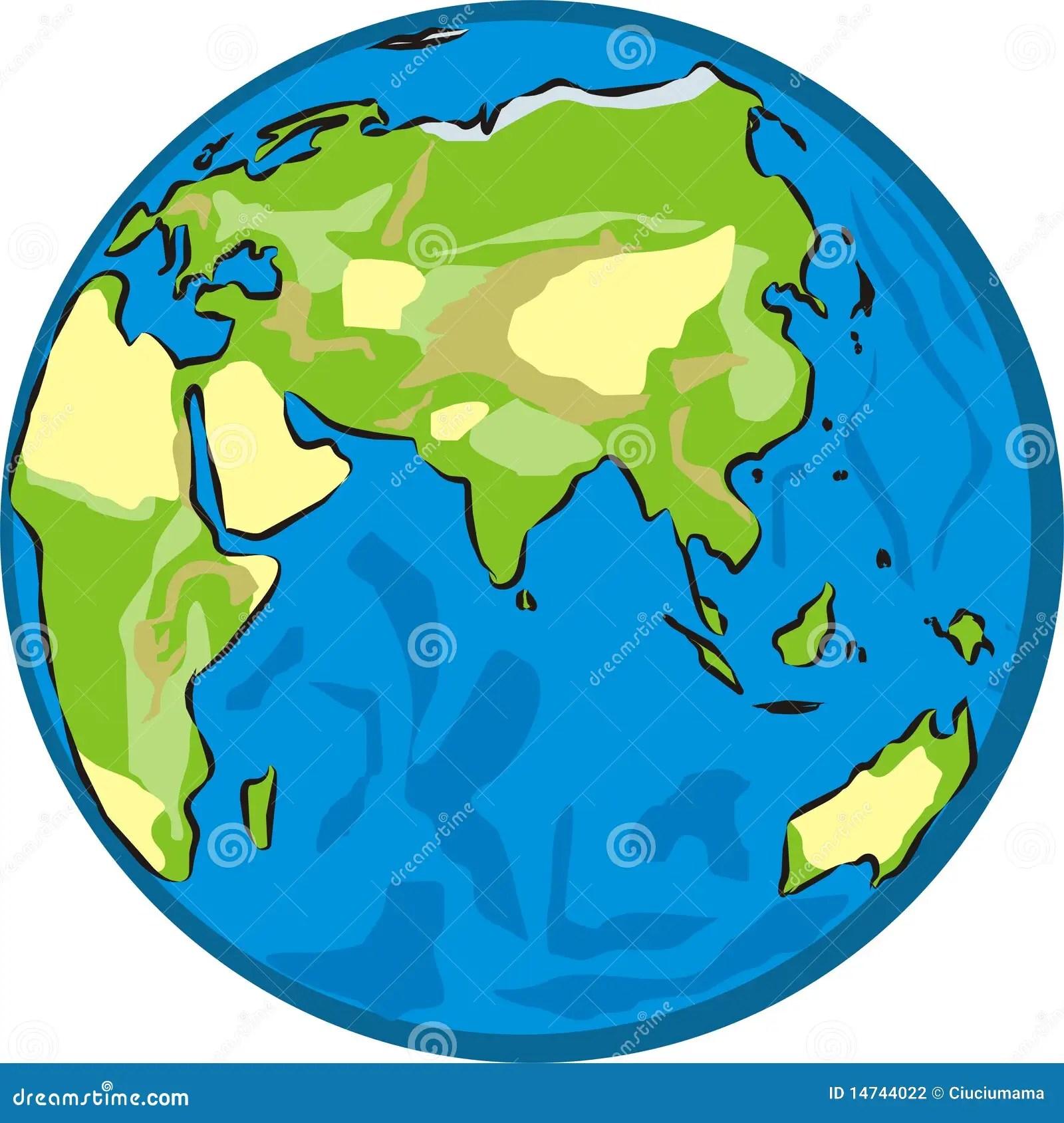 Eastern Hemisphere Stock Vector Illustration Of Globe
