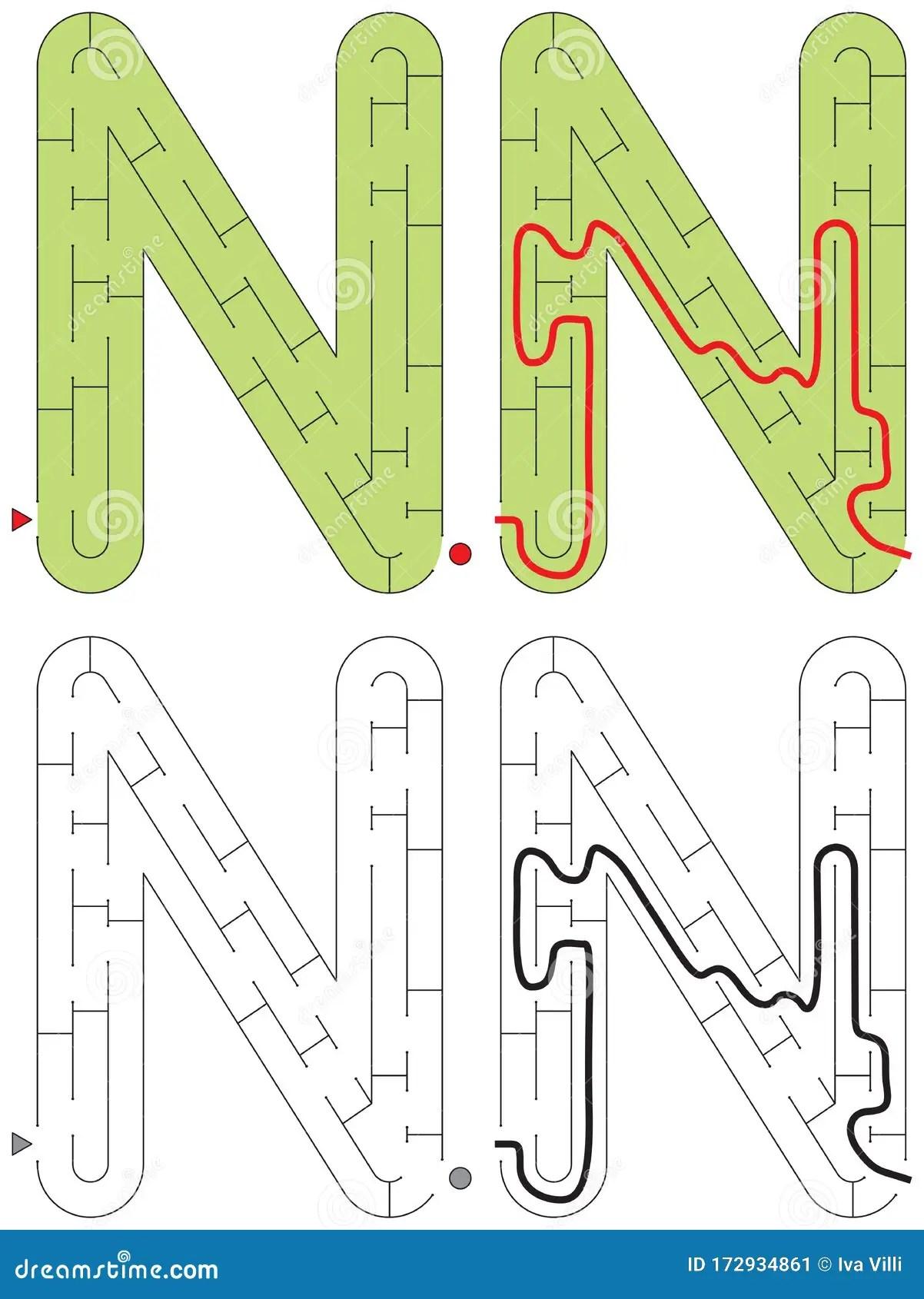Easy Alphabet Maze