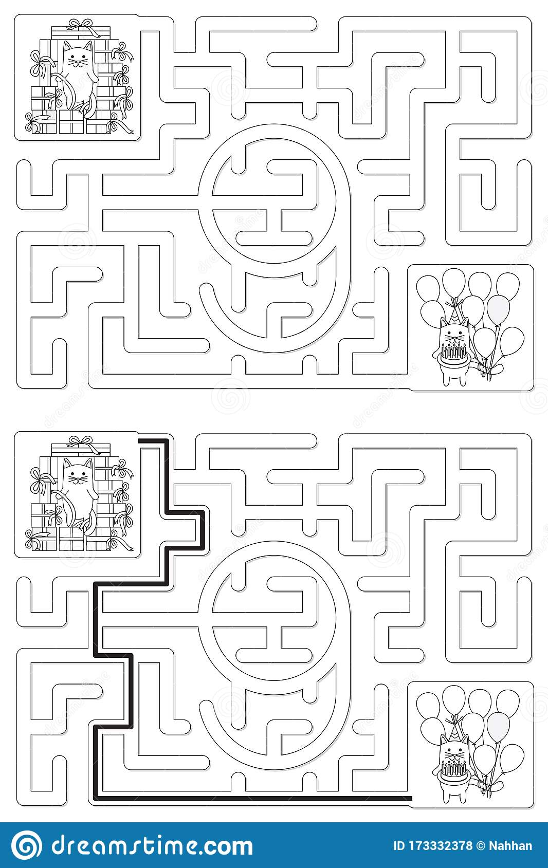 Easy Cat Maze