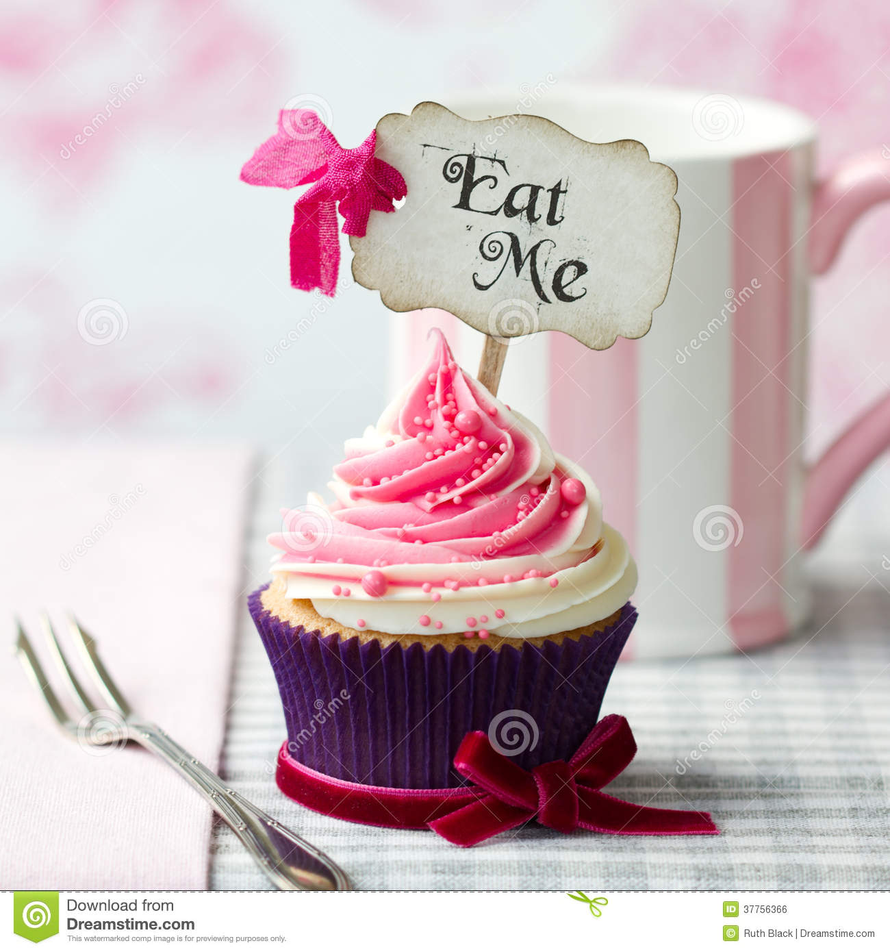 Eat Me Cupcake Royalty Free Stock Image  Image 37756366