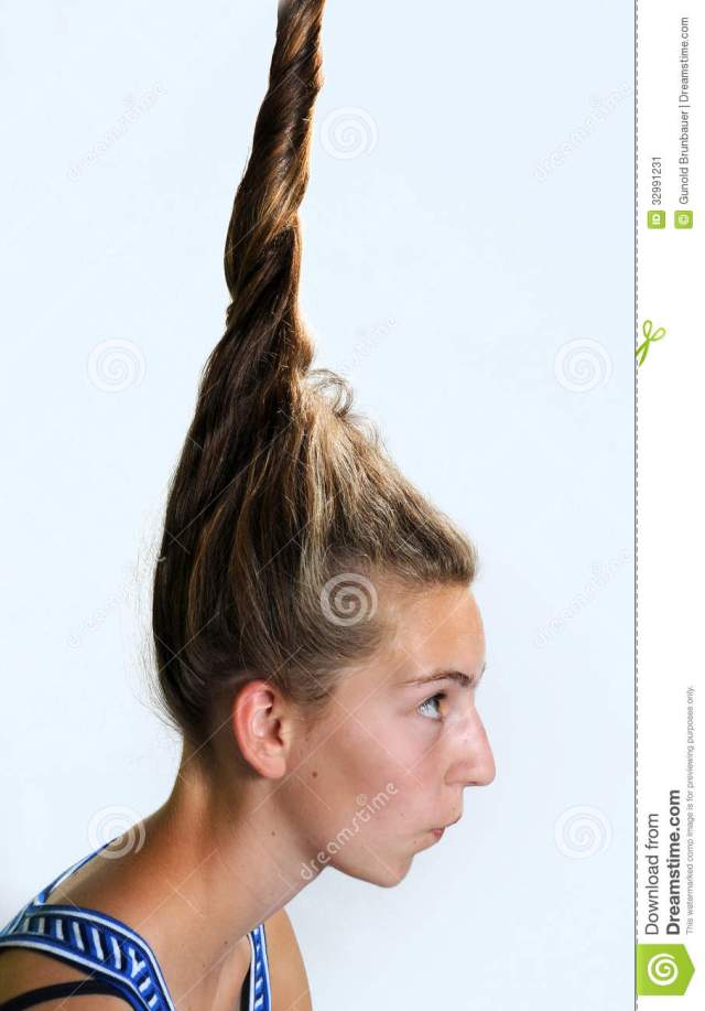 eccentric hairstyle stock image. image of student, hairstyle