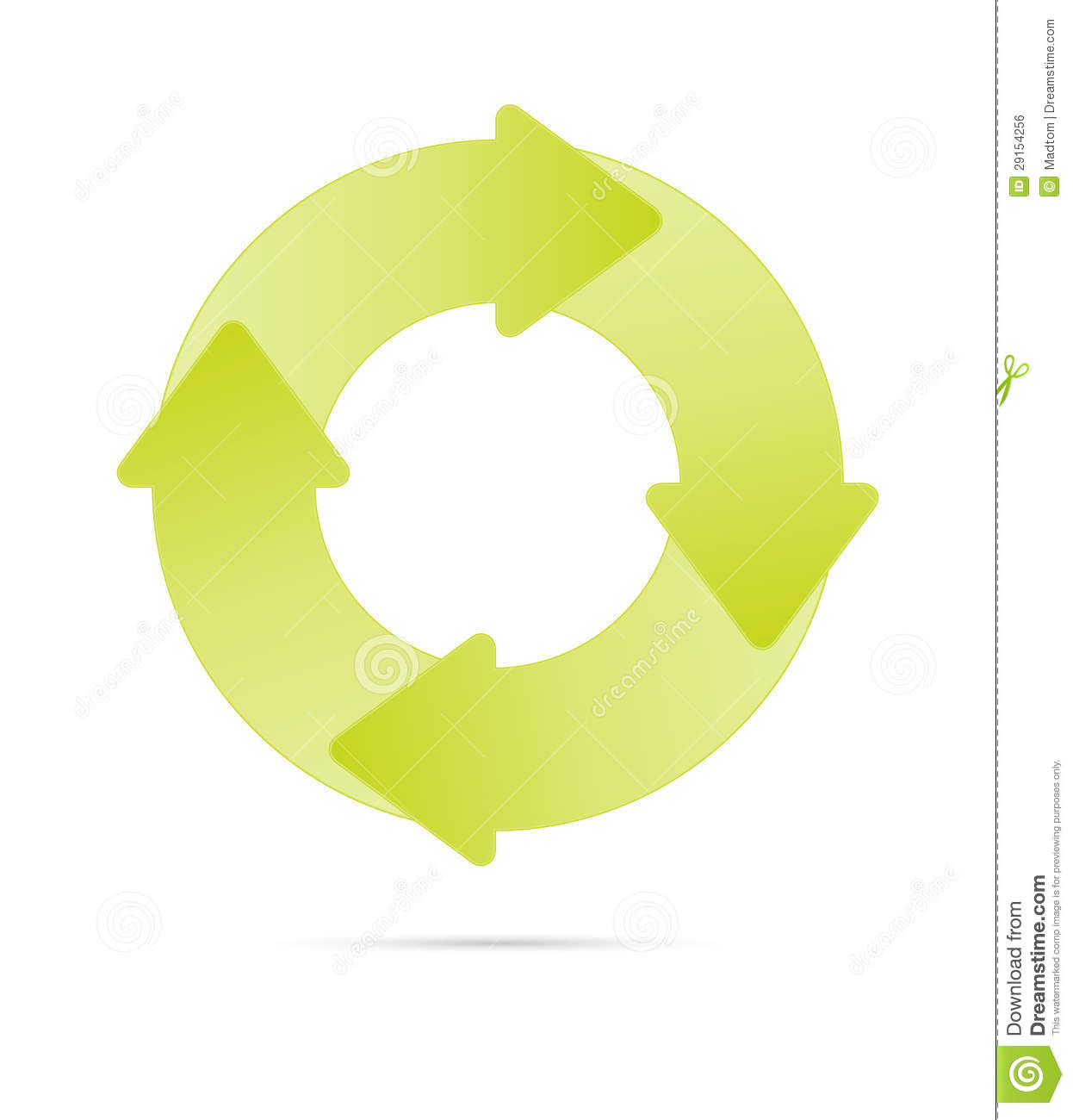 Eco Cycle Diagram Royalty Free Stock Image