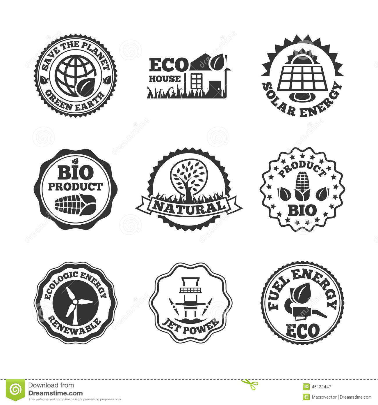 Energy Labels With Bulbs On White Background Vector