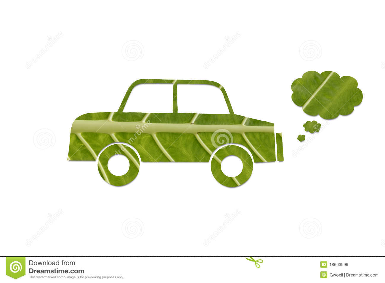 Eco Friendly Green Car Royalty Free Stock Images