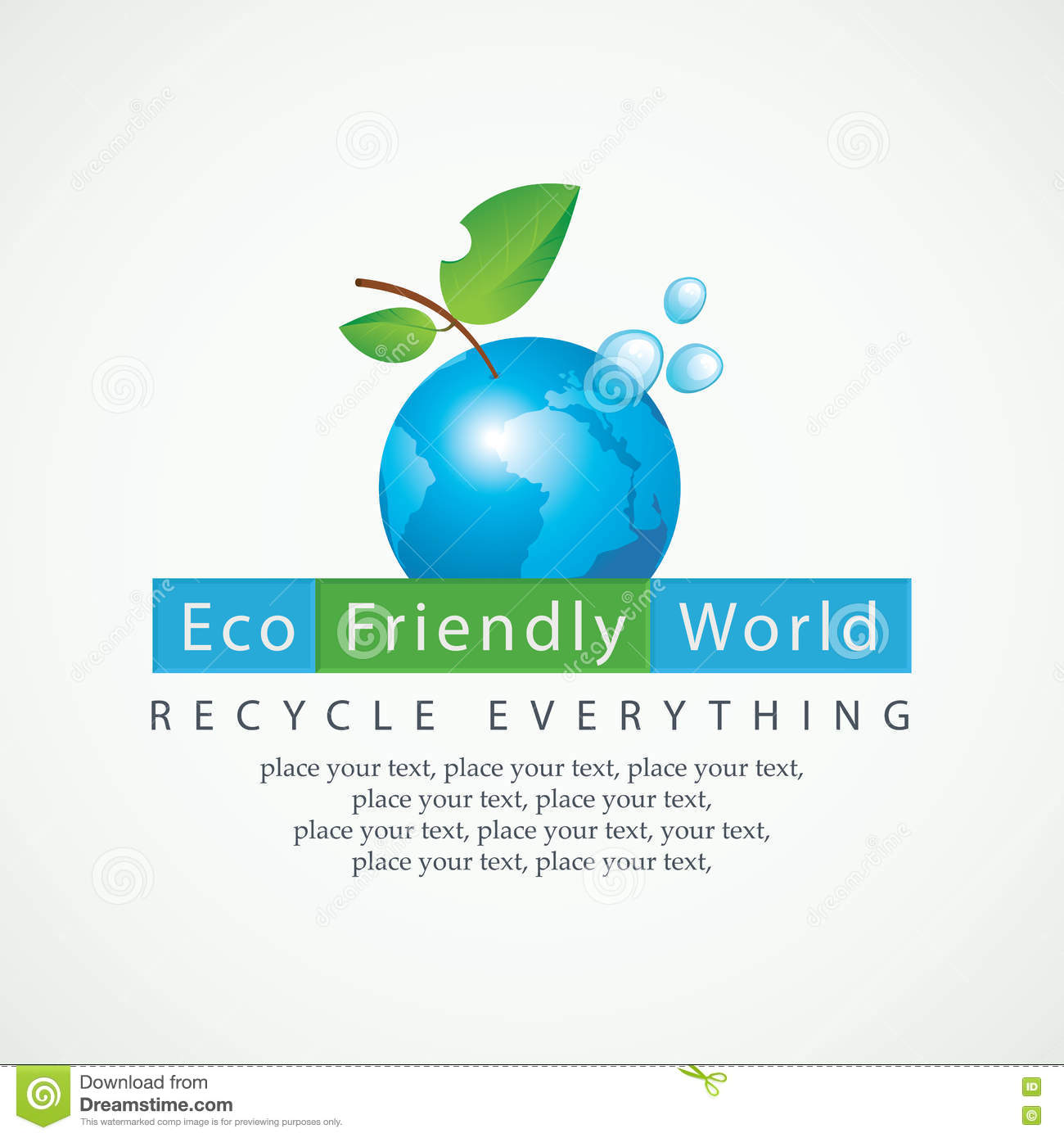 Eco Friendly World And Recycle Everything Stock Vector