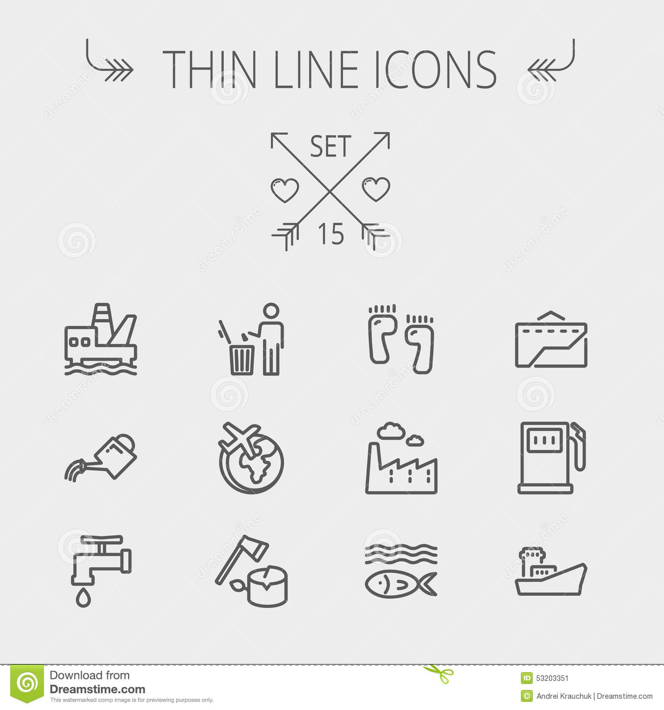 Ecology Thin Line Icon Cartoon Vector