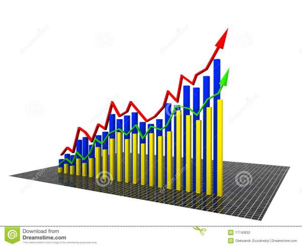Economic Graph Yellow 2 Stock Illustration