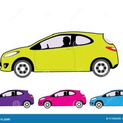 Vehicle Diagram Clip Art 25 Pair 66 Block Wiring Economy Car Stock Vector Image 41366606