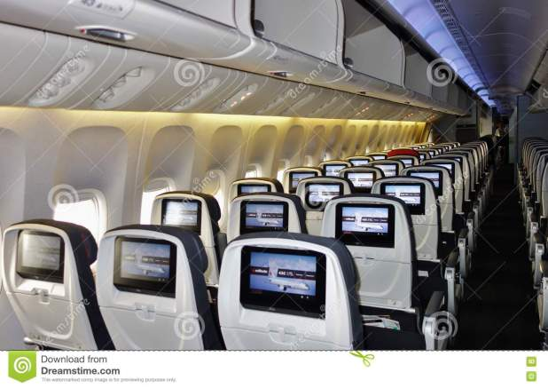 Economy Class Seats On An Air Canada Boeing 777