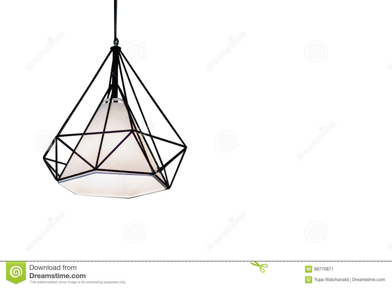 Edison S Light Bulb And Lamp In Modern Style Stock Photo
