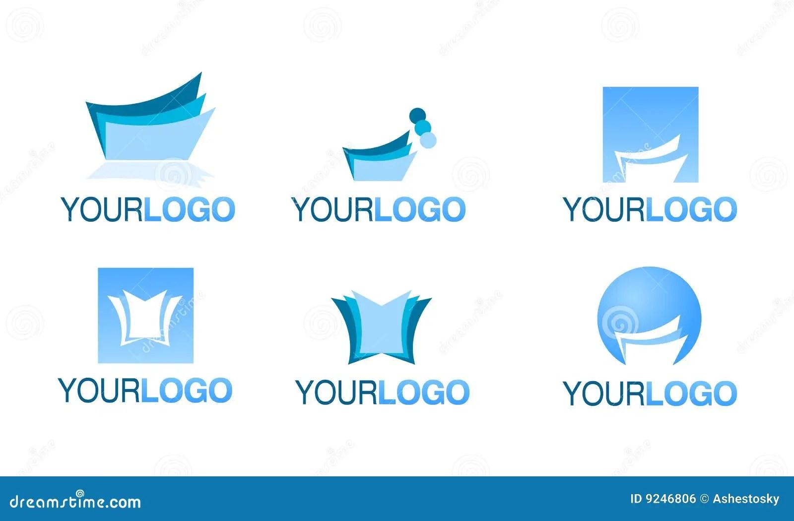 Editorial Financial Logo Vector Set Royalty Free Stock