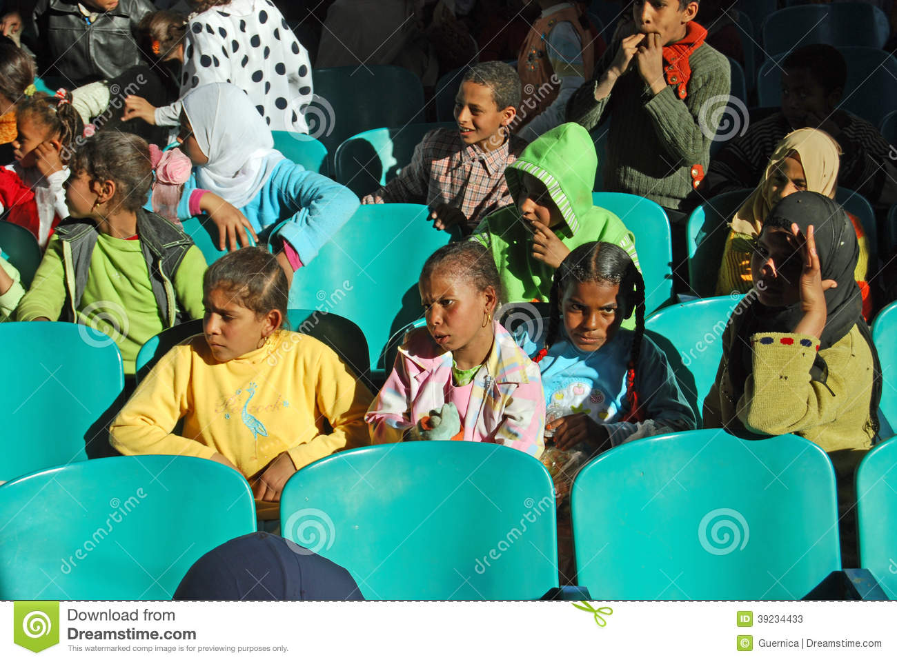 girls desk chairs office chair handles educating poor kids in egypt editorial stock photo - image: 39234433