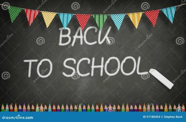 Education School Concept Blackboard And Chalk