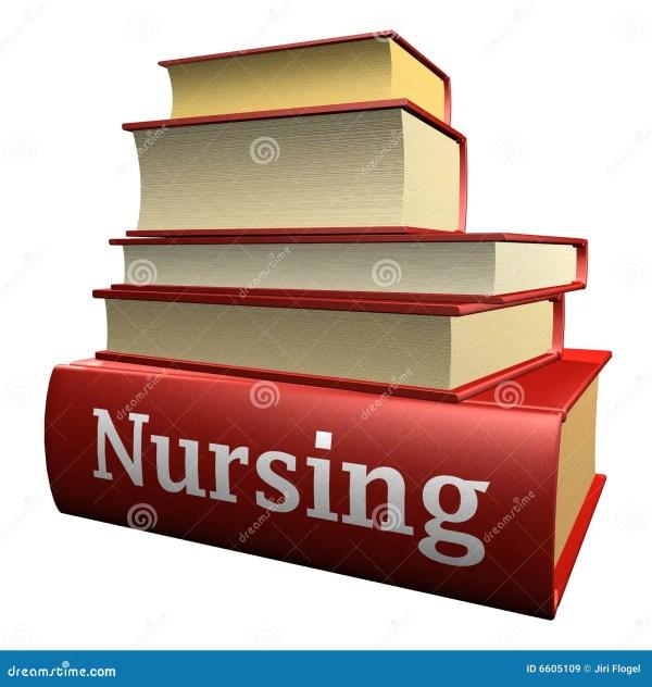 Education Books - Nursing Stock Illustration. Illustration