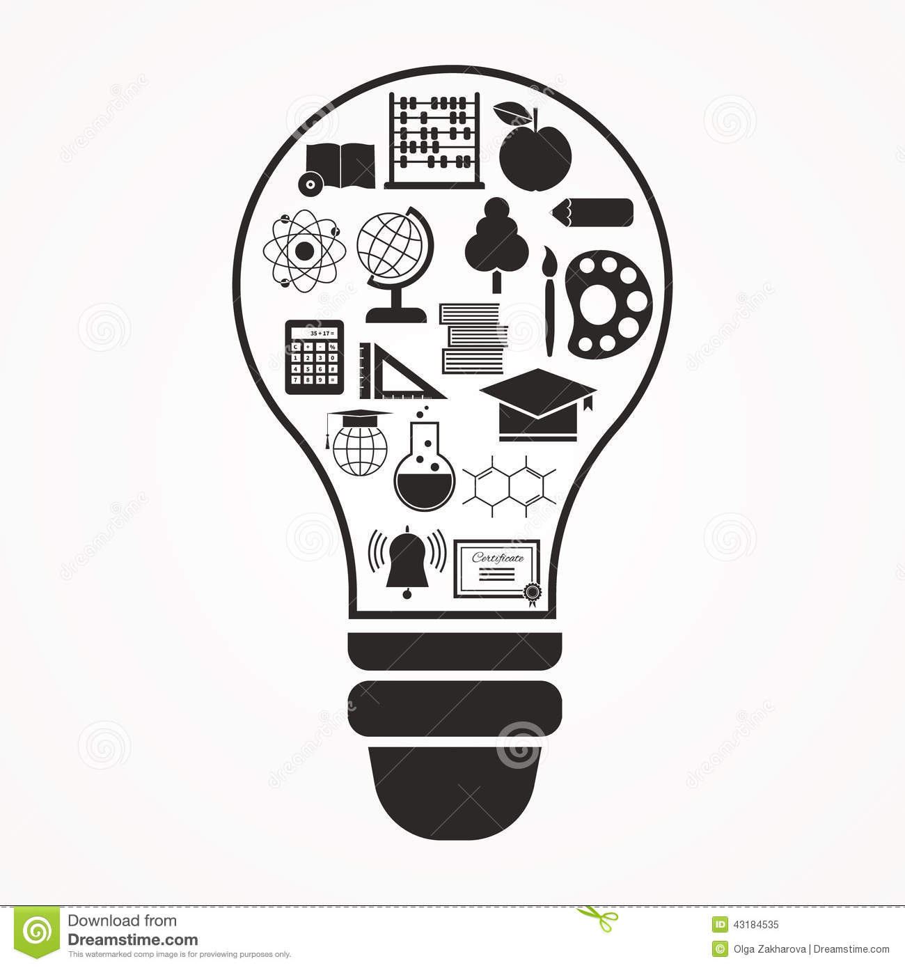 Education Concept stock illustration. Image of icon