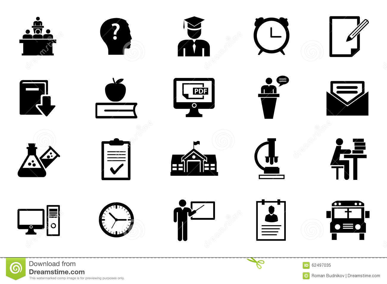 Education Icon Set Stock Vector Illustration Of Career