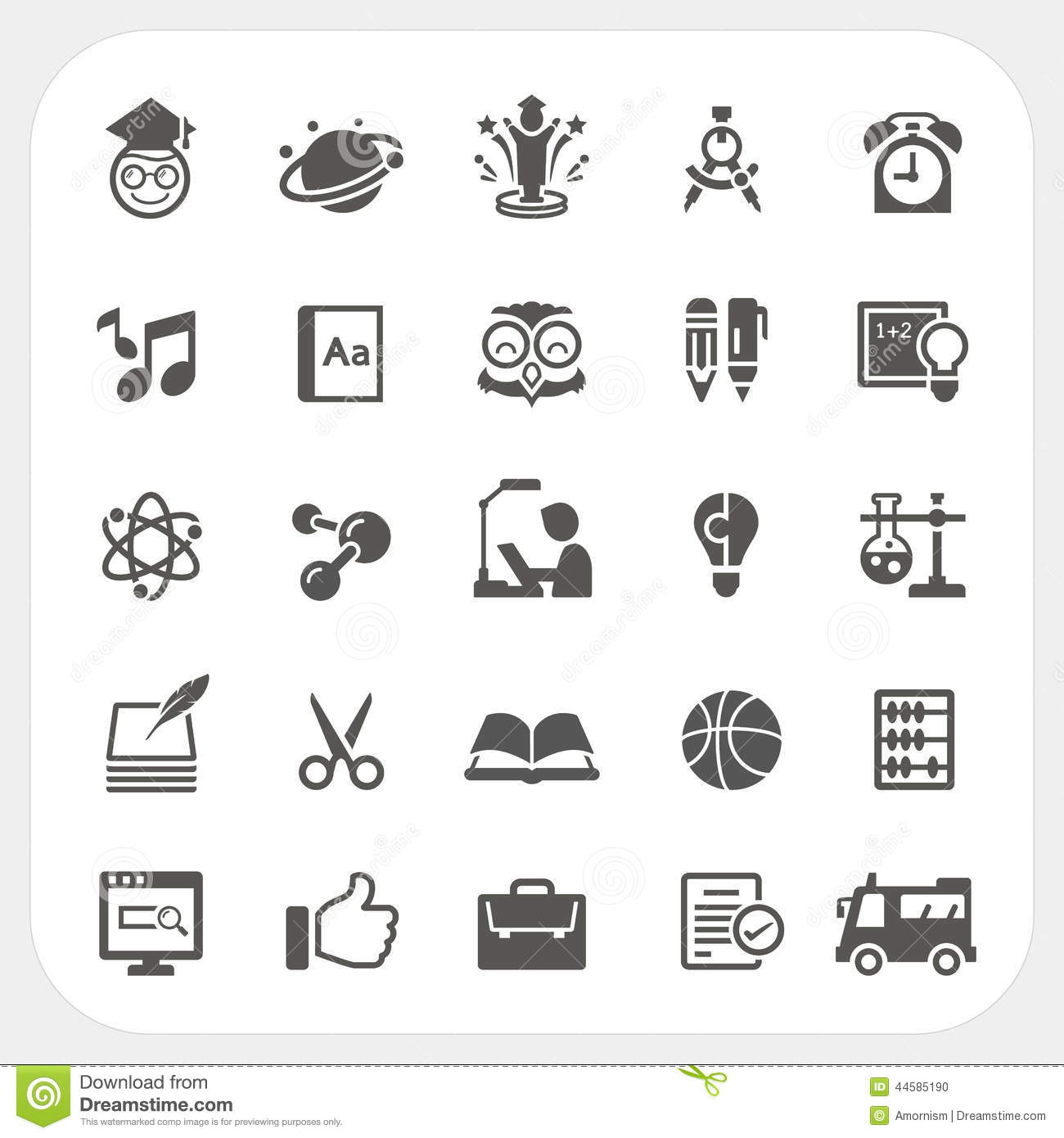 Education Icons Set Stock Vector Illustration Of Hygiene