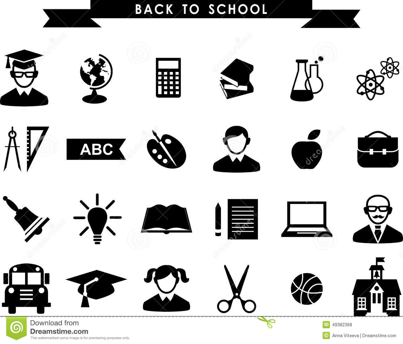 Education Icons Stock Vector Illustration Of Pencil