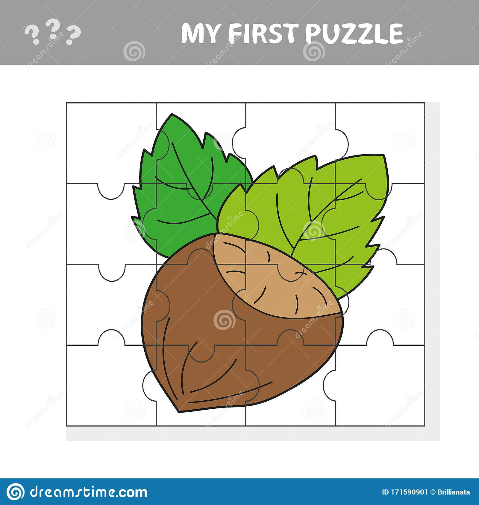 Education Jigsaw Puzzle Game For Preschool Children With