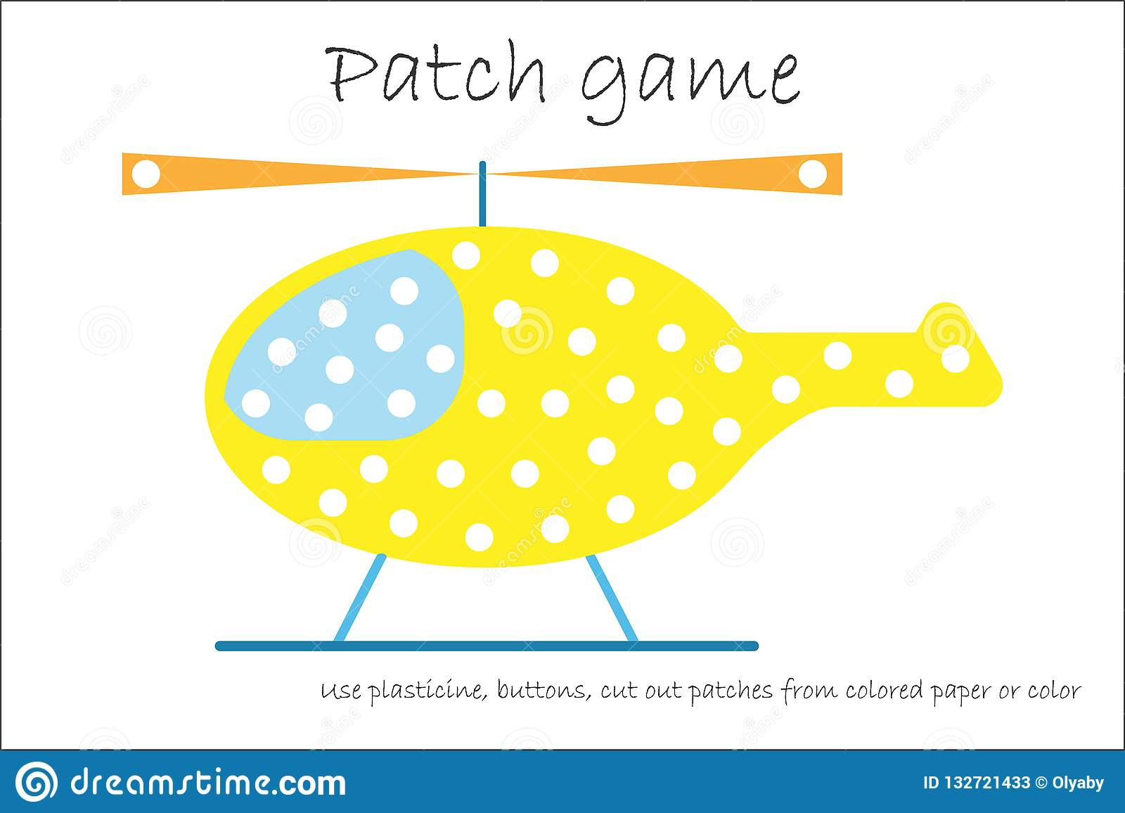 Education Patch Game Helicopter For Children To Develop