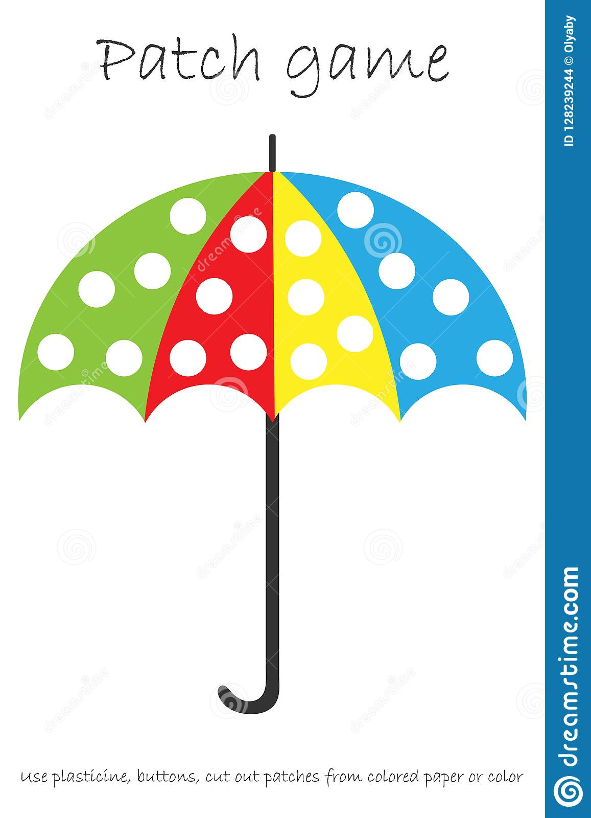 Education Patch Game Umbrella For Children To Develop