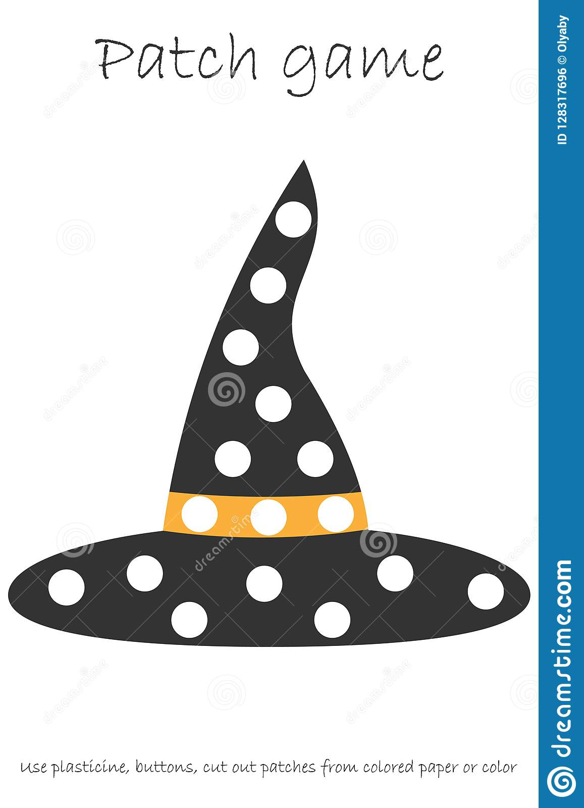 Education Patch Game Witch Hat For Children To Develop