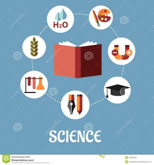 Education And Science Flat Design Stock Vector