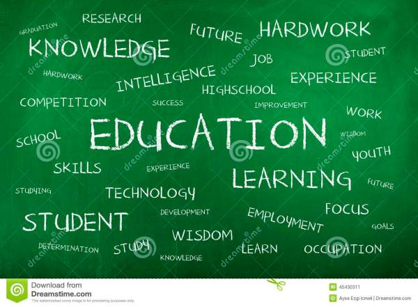 Education Word Cloud Vector Illustration Cartoondealer