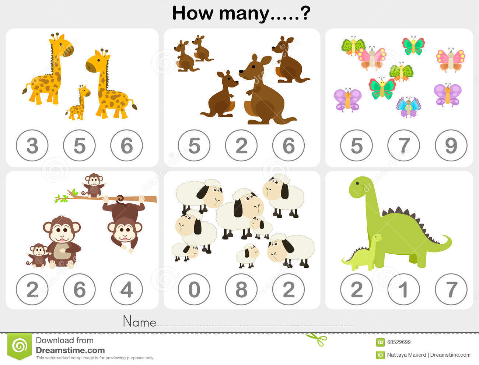 Categorizing Worksheet Preschool