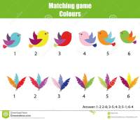 Educational Children Game. Match By Color. Find Pairs Of ...