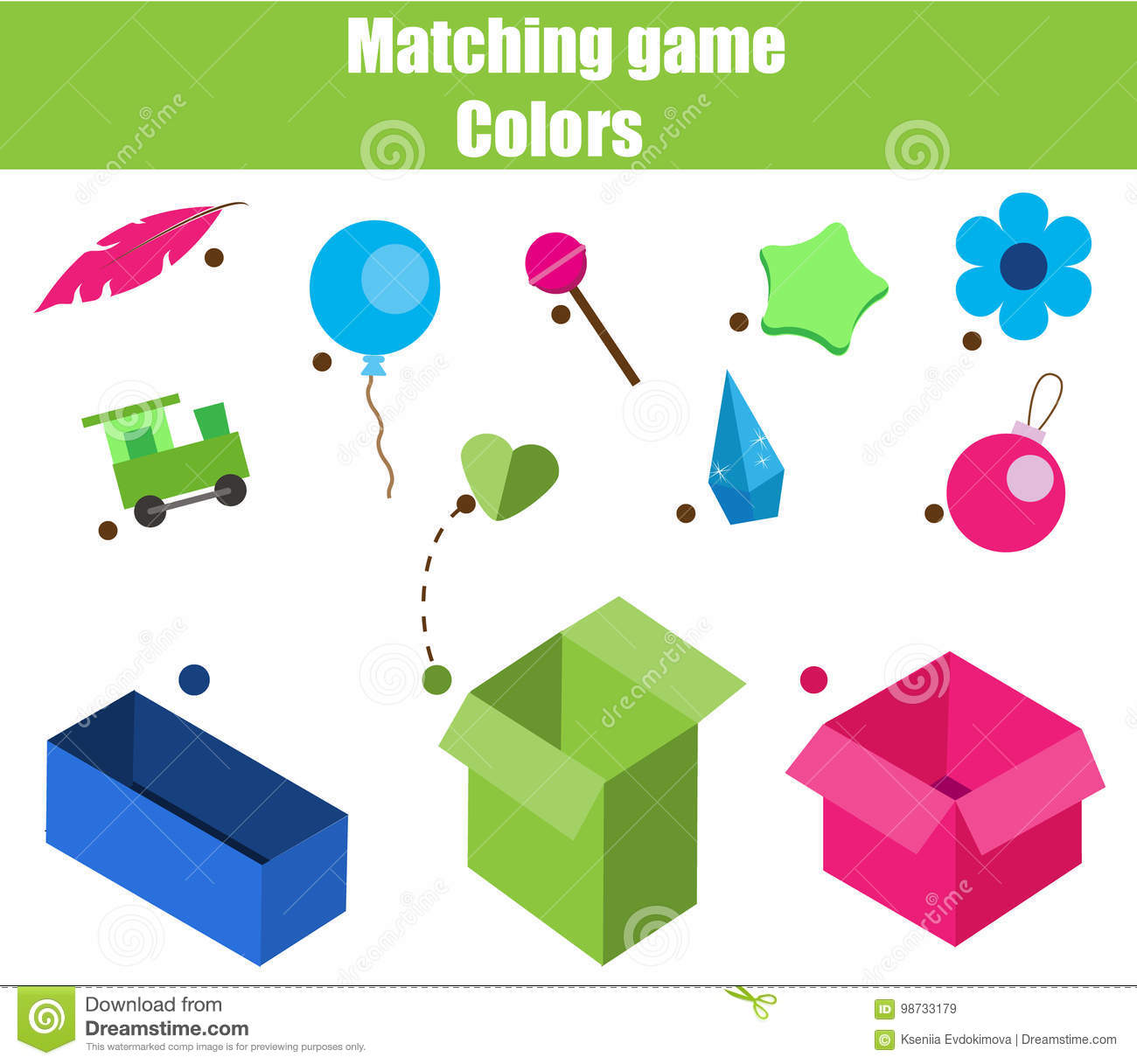 Autism Matching Worksheet