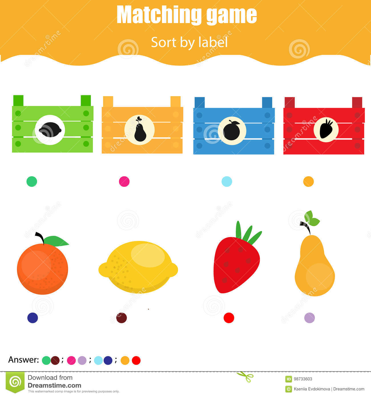 Time Worksheet Matching