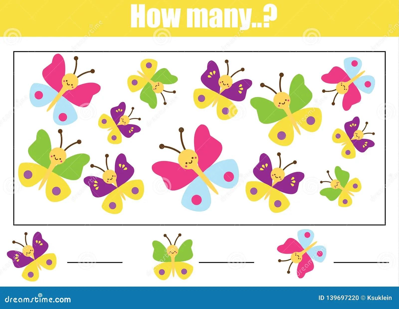 Educational Children Game Mathematics Kids Activity Sheet