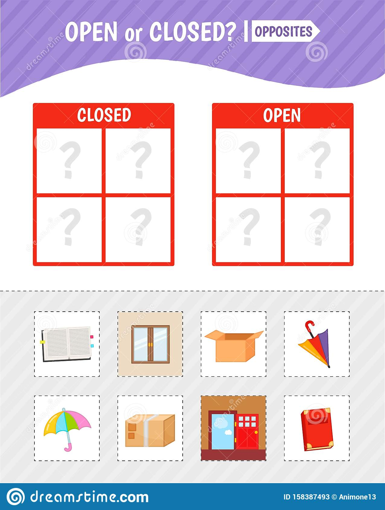 Kids Educational Game Stock Vector Illustration Of
