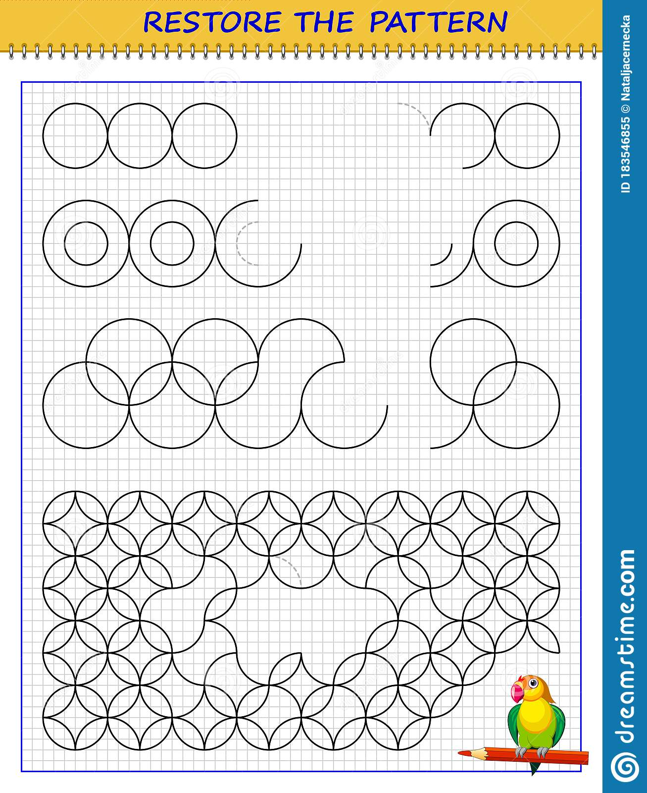 Educational Page On Square Paper For Children Printable
