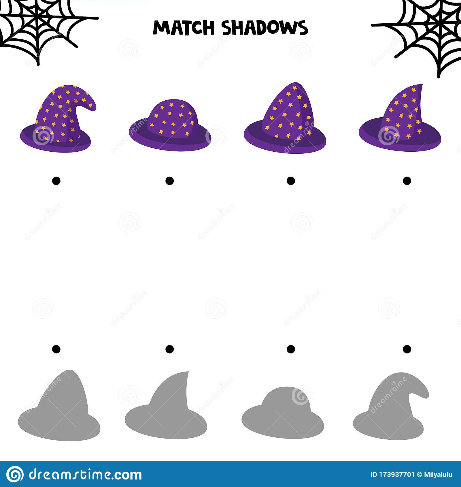 Educational Worksheet For Kids Halloween Games Match