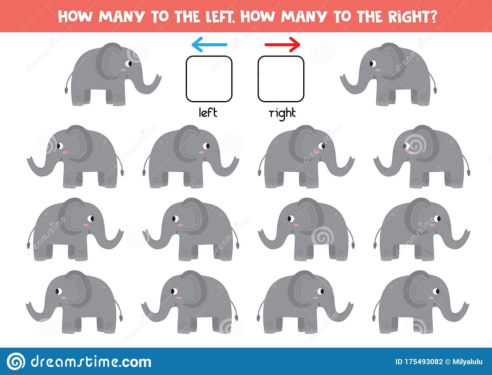 Educational Worksheet For Kids Left Or Right With Cute