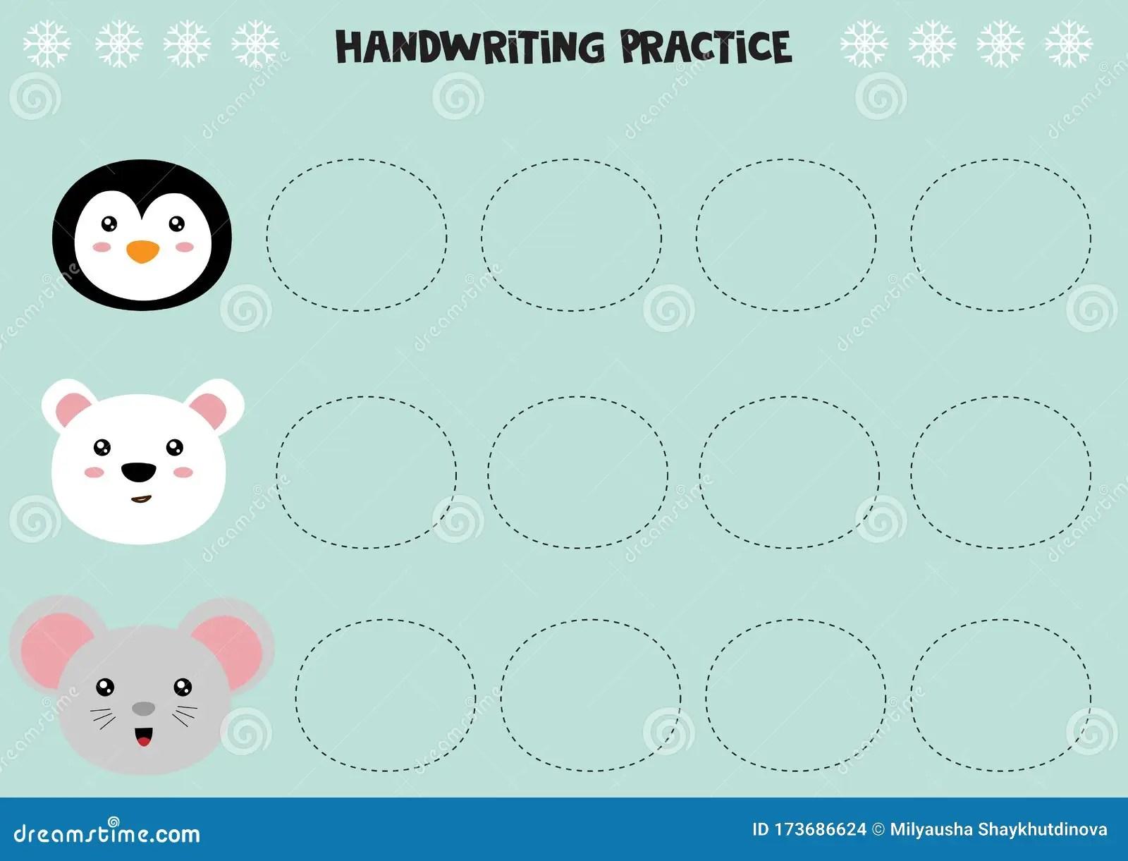Educational Worksheet For Preschool Kids Handwriting