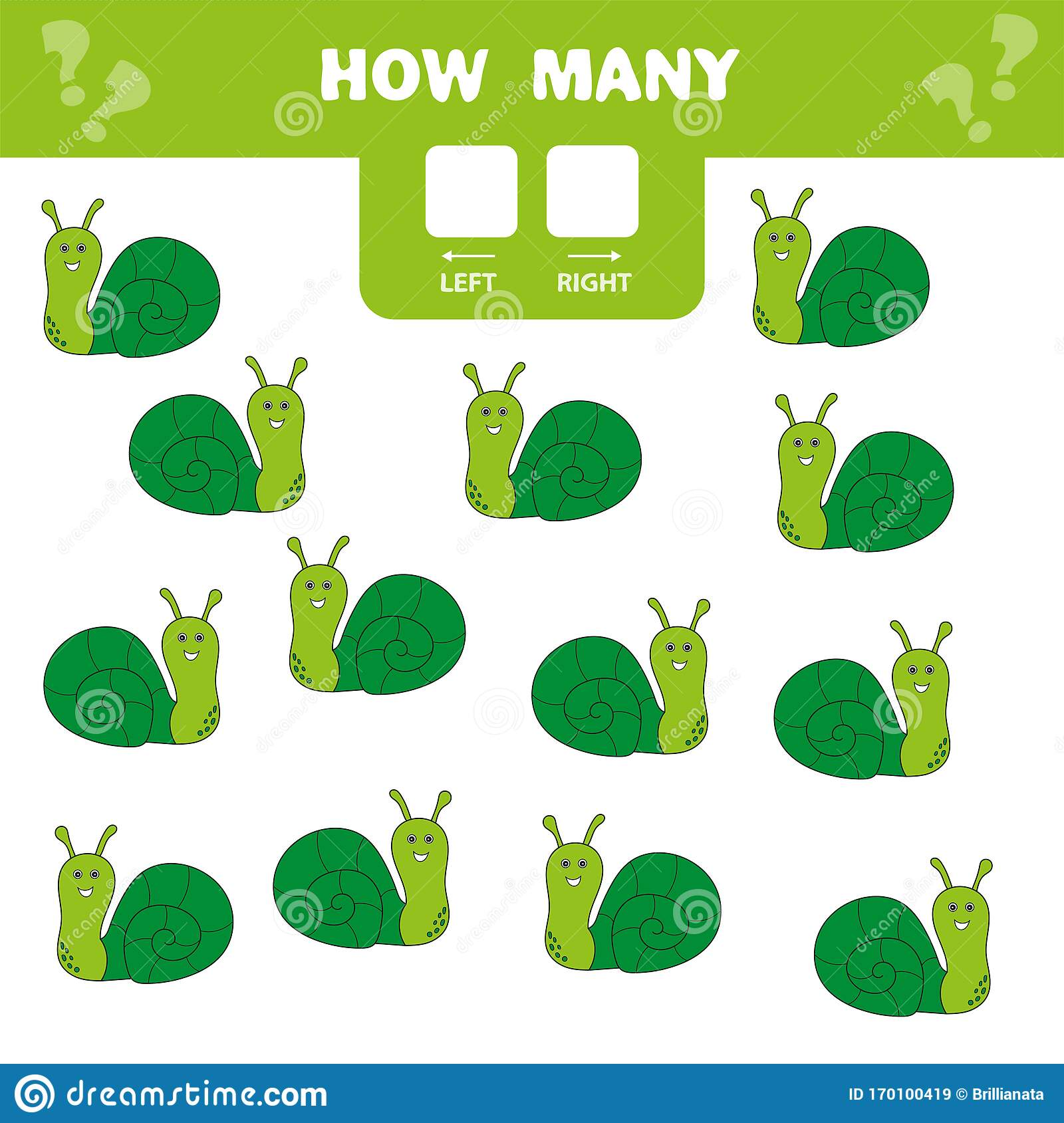 Educational Worksheet Left And Right Count How Many