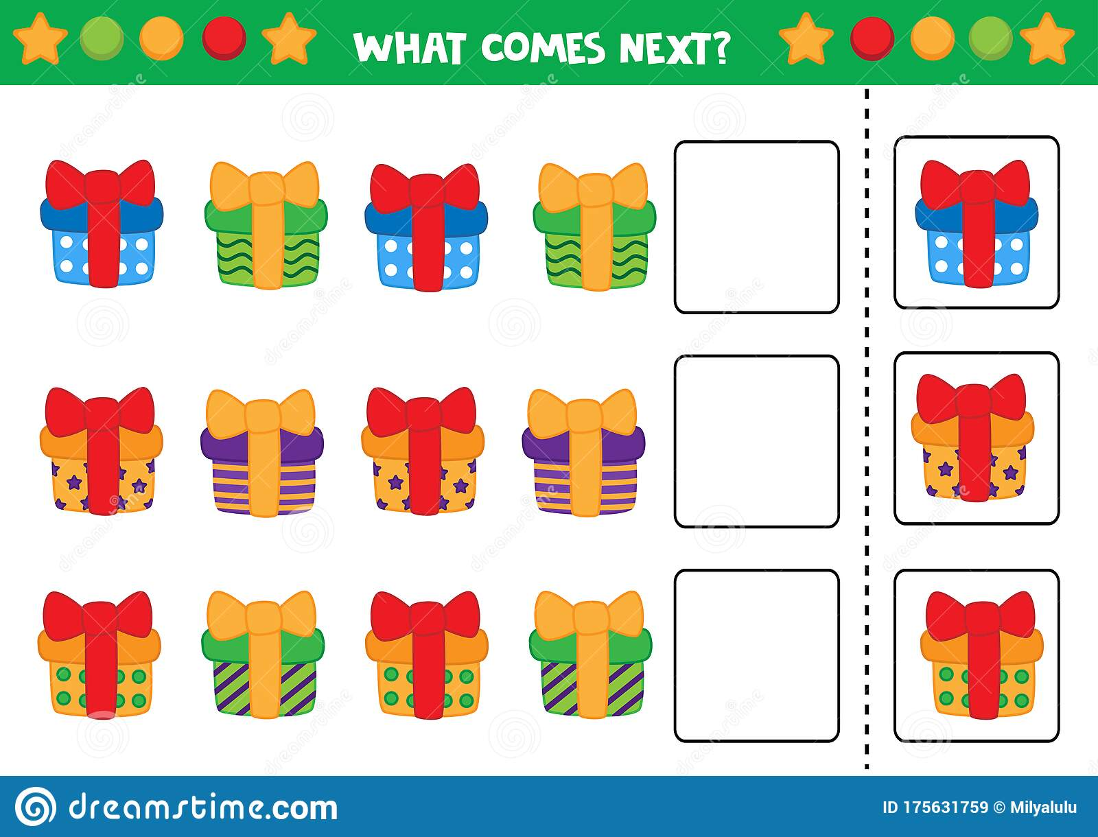 Educational Worksheet For Preschool Kids What Comes Next