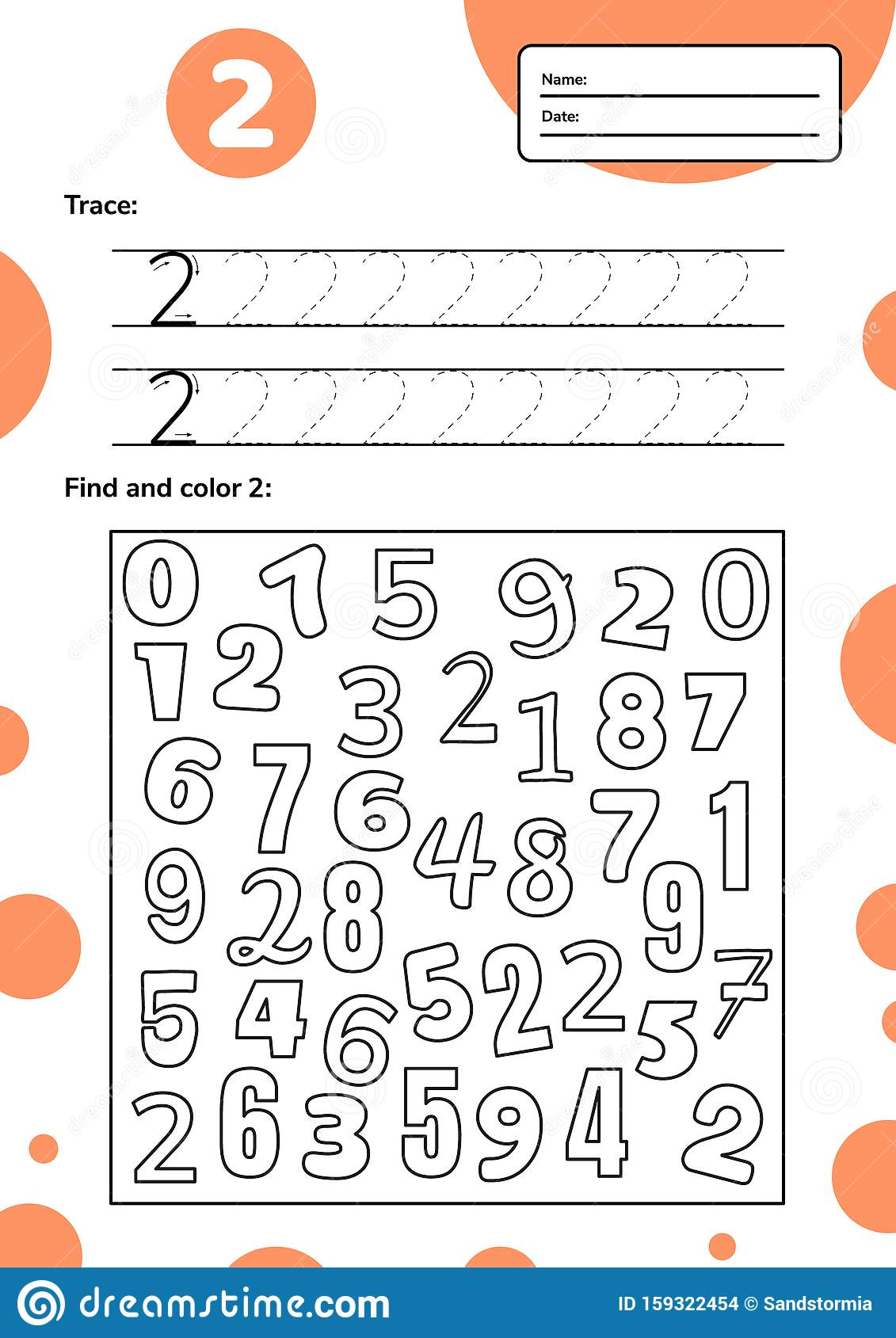 Educational Worksheet For Preschool And School Kids
