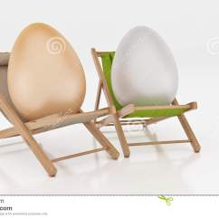 Lay Down Beach Chairs Chair Covers For Roll Top Dining Egg With On Summer White Abstract Background Easter Holiday