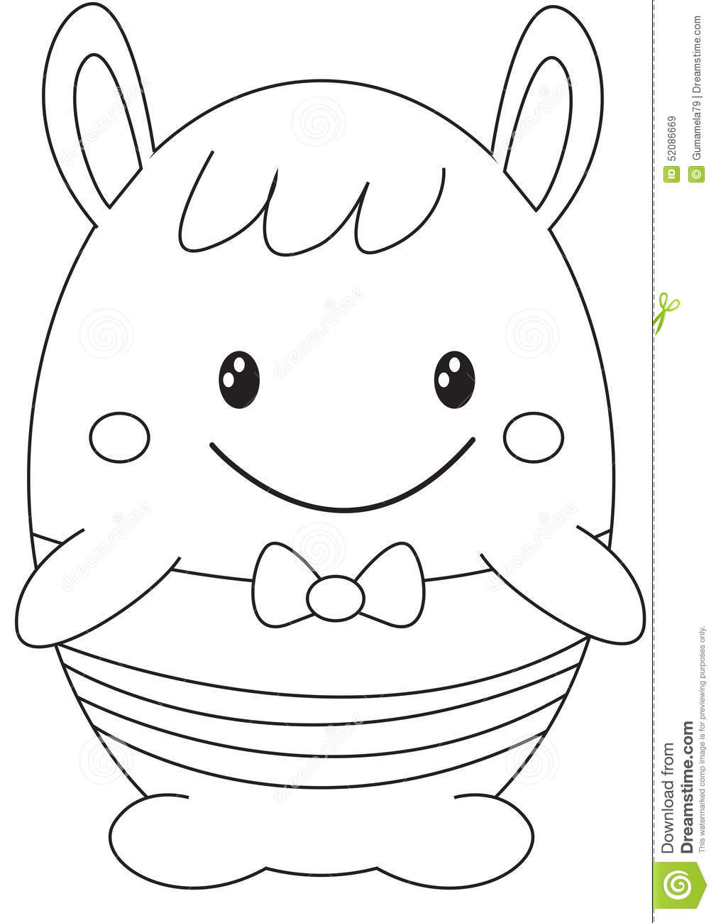 Cartoon Toys Objects Coloring Page Vector Illustration